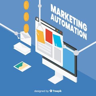 Marketing automation background