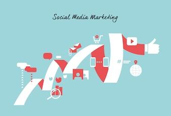 Marketing background design