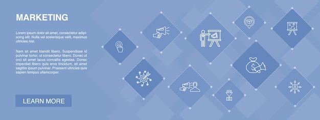 マーケティングバナー10アイコンconceptcalltoactionマーケティング計画マーケティング戦略シンプルアイコン