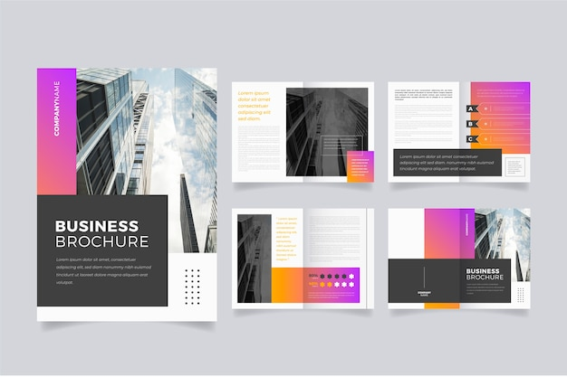 Marketing brochure template layout
