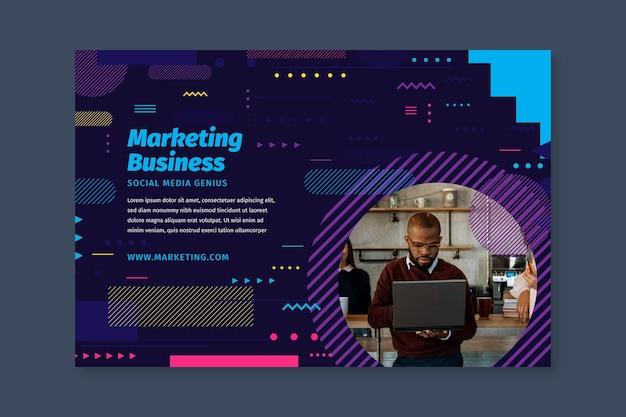 Modello di banner aziendale di marketing