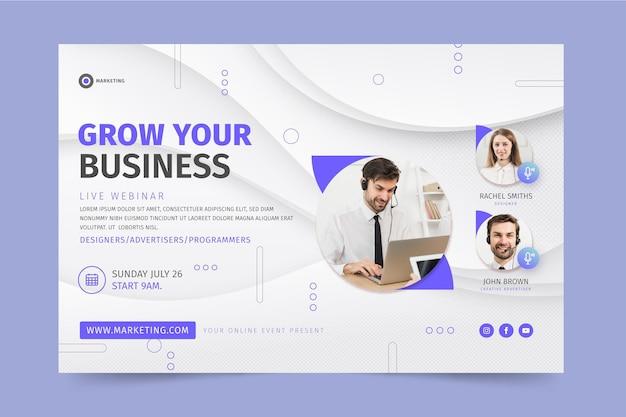 Marketing business banner