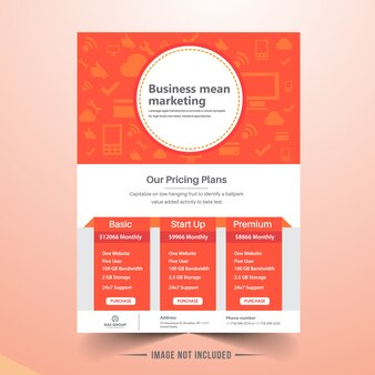 Marketing business brochure template