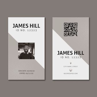 Marketing business business card template