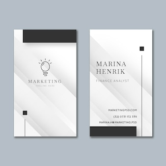 Marketing business card template Premium Vector
