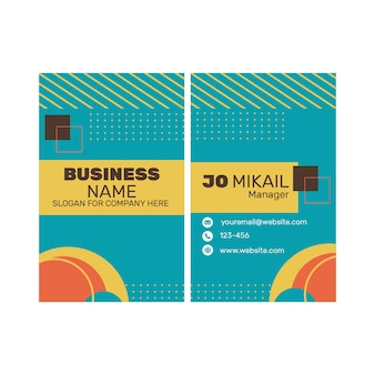 Marketing business double sided business card