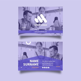Marketing business double-sided business card