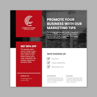 Marketing business flyer square