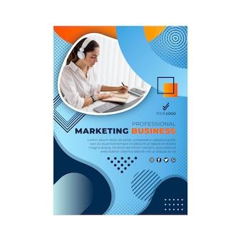 Marketing business flyer template