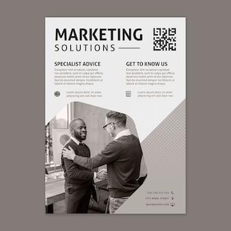 Шаблон рекламного бизнес-флаера