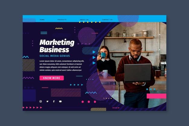 Home page di attività di marketing Vettore gratuito
