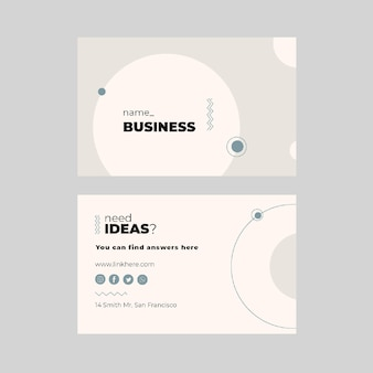 Marketing business horizontal business card template