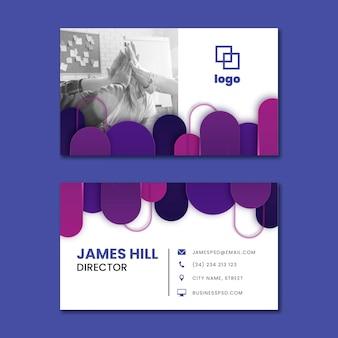 Marketing business horizontal business card