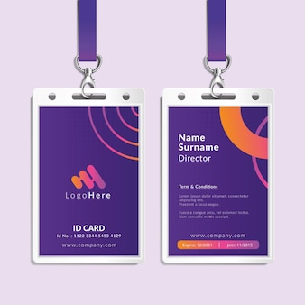 Marketing business id card template
