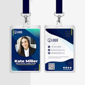 Modello di carta d'identità aziendale di marketing