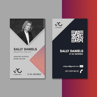 Marketing business id card