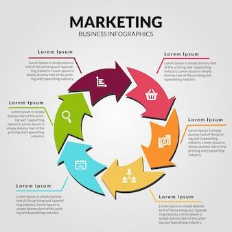 Marketing business infographics