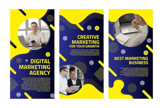 Marketing business instagram stories collection