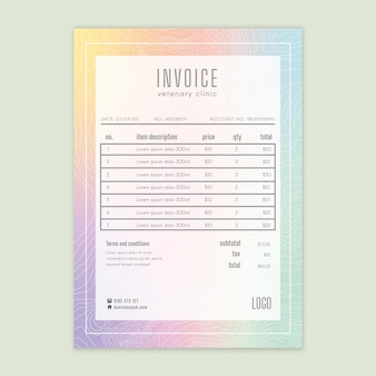 Marketing business invoice