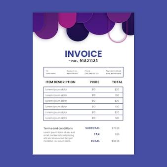 Marketing business invoice