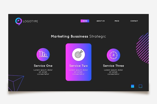 Marketing business landing page template