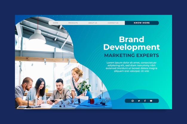 マーケティングビジネスのランディングページテンプレート