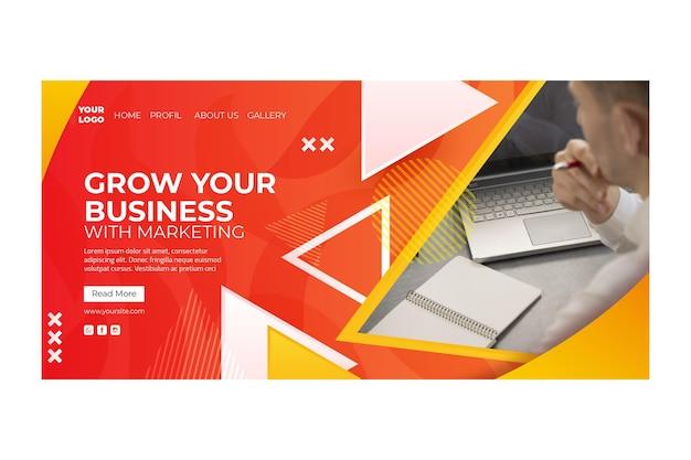 마케팅 비즈니스 방문 페이지 템플릿