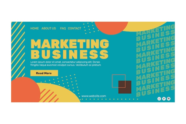 Marketing business landing page