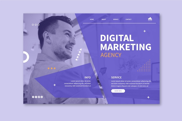 Marketing business landing page