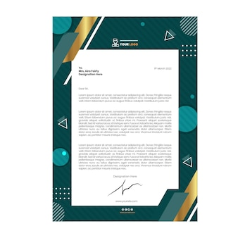 Marketing business letterhead template