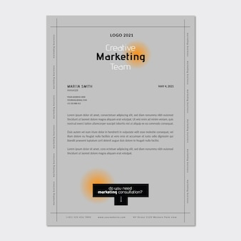 Marketing business letterhead template
