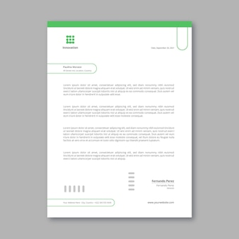 Modello di carta intestata per attività di marketing