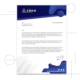Marketing business letterhead