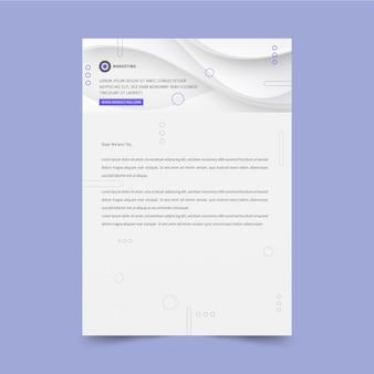 Marketing business letterhead