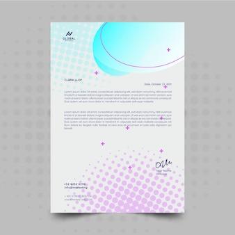 Carta intestata per attività di marketing