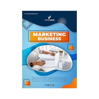Modello di poster aziendale di marketing
