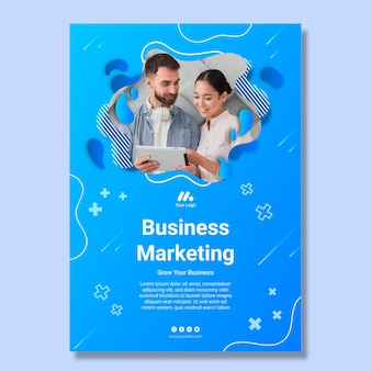 Шаблон маркетингового бизнес-плаката