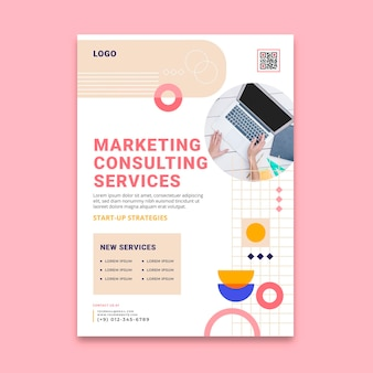 Marketing business poster template