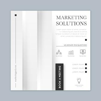Маркетинговый бизнес квадратный флаер шаблон
