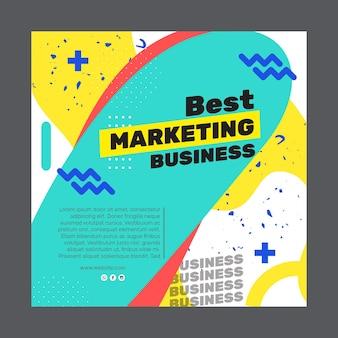 Маркетинг бизнес квадратный флаер