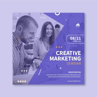 Marketing business squared flyer