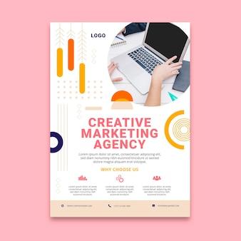 Marketing business vertical flyer template