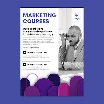 Marketing business vertical flyer