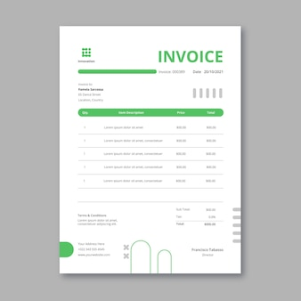 Marketing business vertical invoice template