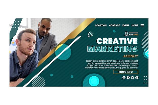 Modello web aziendale di marketing