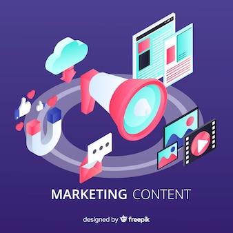 Marketing content flat background