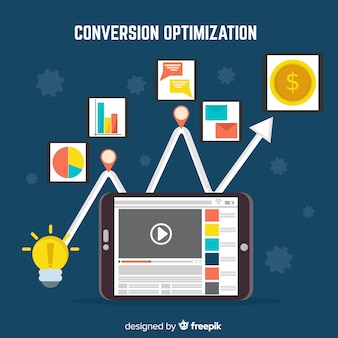 Marketing conversion flat background