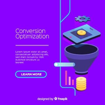 Marketing conversion flat background