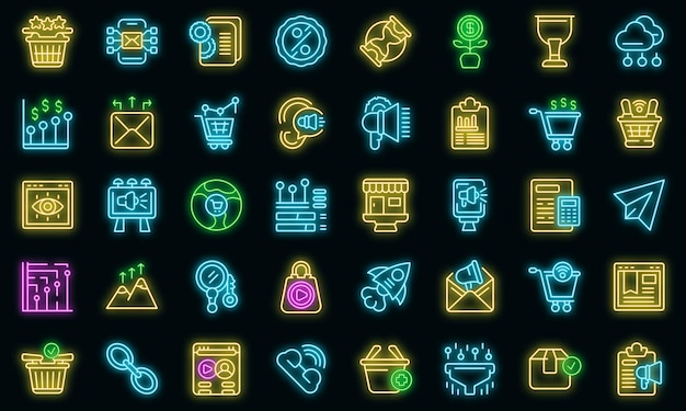 Marketing filled icon, outline style