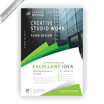 Marketing flyer template Free Vector